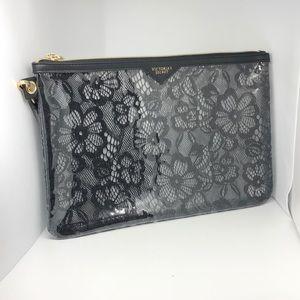 Victoria's Secret lace clutch - black & sheer